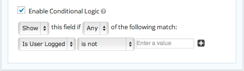 Gravity Forms Conditional Logic Based On User Login