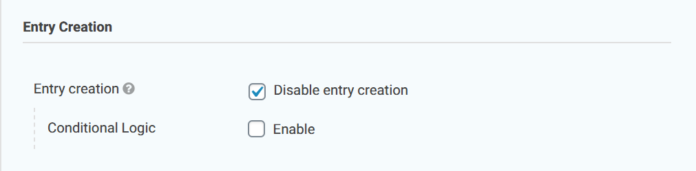 GF Disable Entry Creation Settings