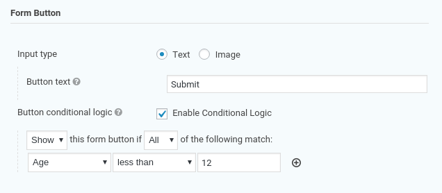 Conditional Logic Settings