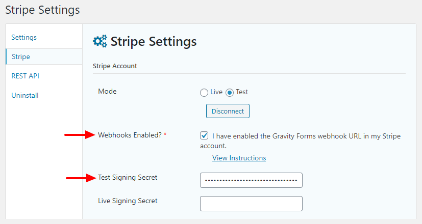 enable stripe developer webhooks