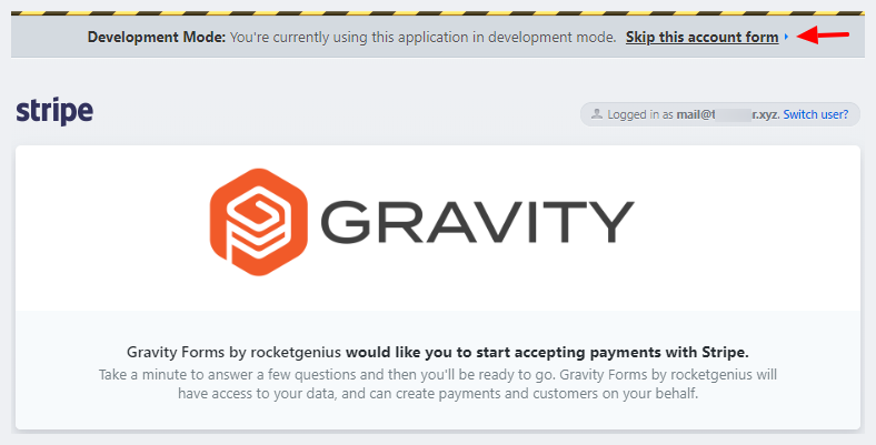 connect stripe account to gravity forms