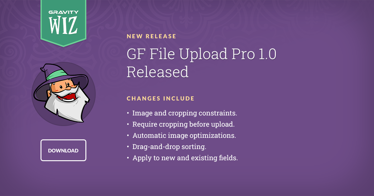 Gravity Forms File Upload Pro 1.0 Released